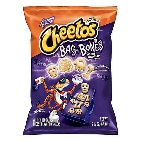 Cheetos Bag Of Bones Cheese Flavored Snacks White Cheddar - 2.375 Oz