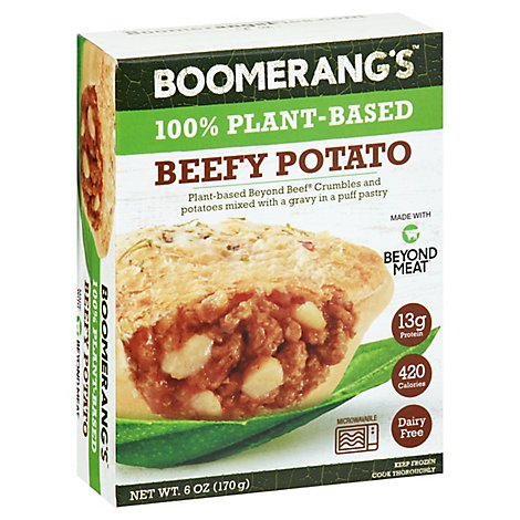 Boomerangs Beef Potato Plant Based - 6 Oz