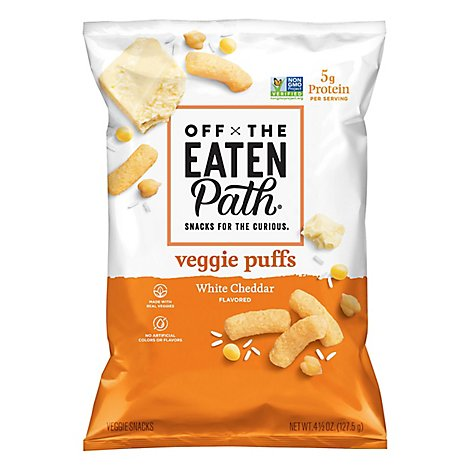 Off The Eaten Path Veggie Crisps White Cheddar - 4.5 Oz