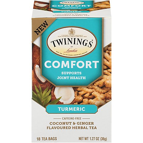 Twining Tea Comfort Coconut Ginger - 18 Count