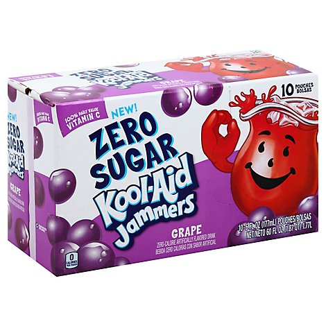 Kool-Aid Zero Sugar Jammers Ready To Drink Soft Drink Grape - 60 Fl. Oz.