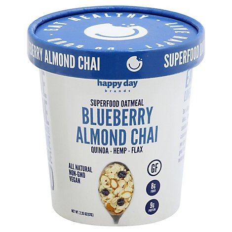 Happy Day Blueberry Chai Super Food Oatmeal - 2.35 Oz