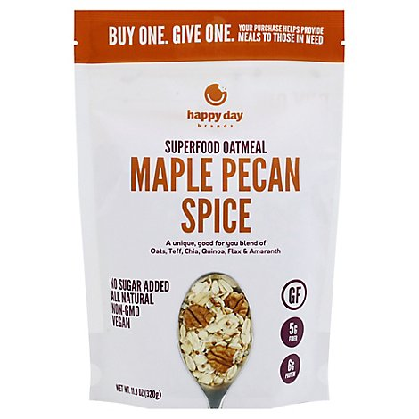 Happy Day Maple Pecan Super Food Oatmeal - 11.3 Oz