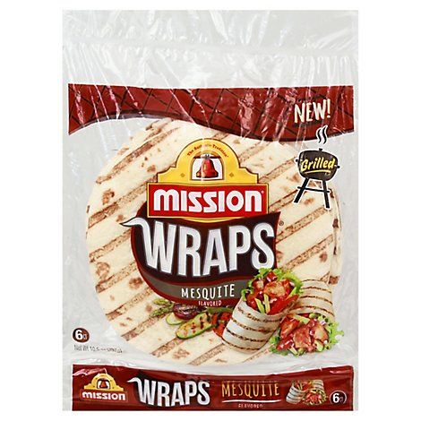 Mission Mesquite Flavored Grilled Wraps - 6 Count