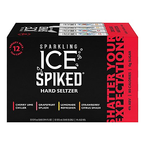 Sparkling Ice Spiked Variety Pack - 12-12 Fl. Oz.