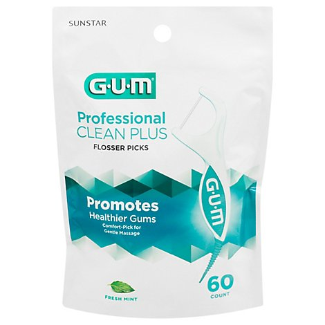 Gum Pro Clean Fresh Mint Flosser Picks - 60 Count