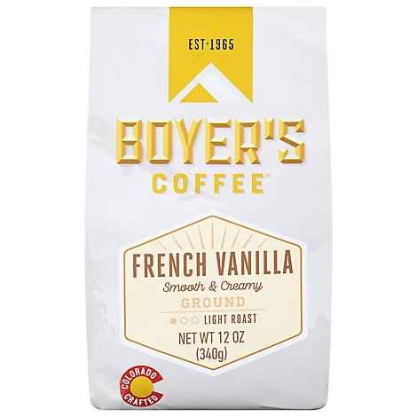 Boyers French Vanilla Ground Coffee - 12 Oz