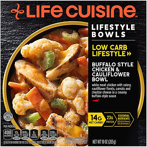 Life Cuisine Buffalo Style Chicken & Cauliflower Bowl - 10 Oz