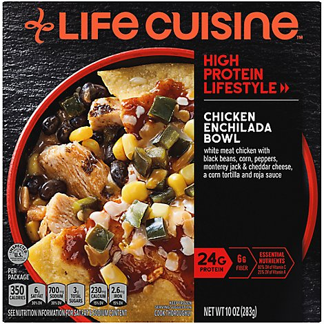 Life Cuisine Chicken Enchilada Bowl - 10 Oz