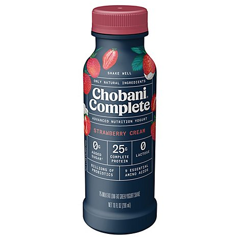 Chobani Complete Strawberry Cream Drink - 10 Fl. Oz.