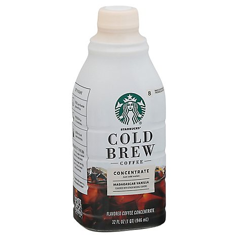 Starbucks Cold Brew Medium Concentrate Madagascar Vanilla Coffee - 32 Fl. Oz.