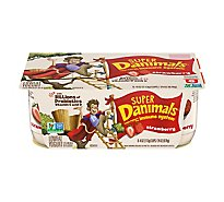 Danimals Super Yogurt Lowfat Probiotic Strawberry - 6-4 Oz