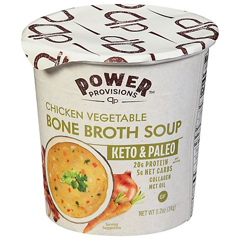 Power Provisions Bone Brth Chkn Vege - 1.2 Oz