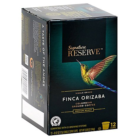 Signature Reserve Coffee Pod Finca Orizaba Colombian - 12 Count