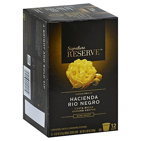 Signature Reserve Coffee Pod Hacienda Rio Negro Costa Rican - 12 Count