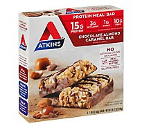 Atkins Chocolate Caramel Almond Meal Bars - 5-1.69 Oz