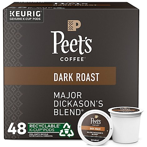 Peets Major Dickasons Kcup Coffee - 48 Count