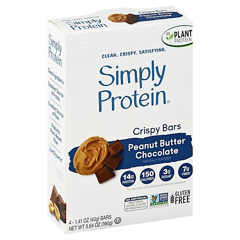 Simply Protein Chocolate Peanut Butter Crispy Bar - 4-1.4 Oz