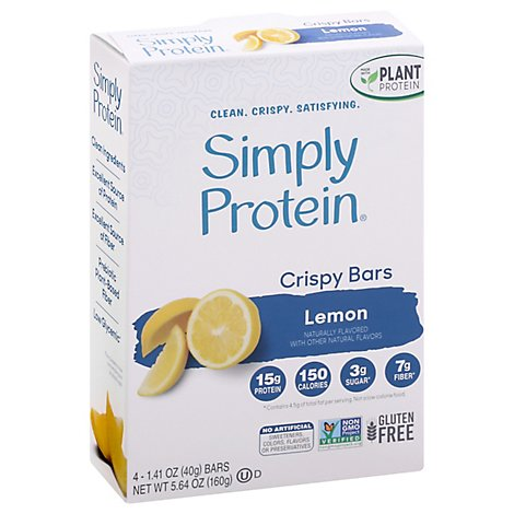 Simply Protein Lemon Coconut Crispy Bar - 4-1.4 Oz