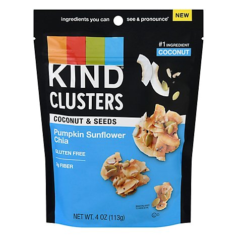 KIND Cluster Bar Pumpkin Sunflower Chia - 4 Oz