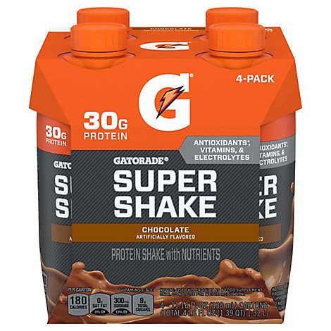 Gatorade Super Protein Chocolate Ready To Drink Shake - 4-11.16 Fl. Oz.