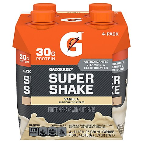 Gatorade Super Protein Vanilla Ready To Drink Shake - 4-11.16 Fl. Oz.