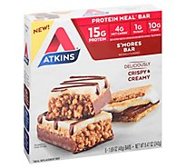 Atkins Smores Meal Bars - 5-1.7 Oz