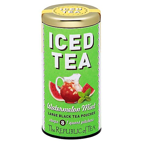 Republic Of Tea Watermelon Mint Iced - 8 Count
