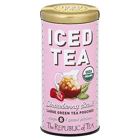 Republic Of Tea Strawberry Basil Iced - 8 Count