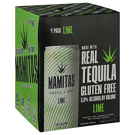Mamitas Tequila & Soda Lime Can - 4-12 Fl. Oz.