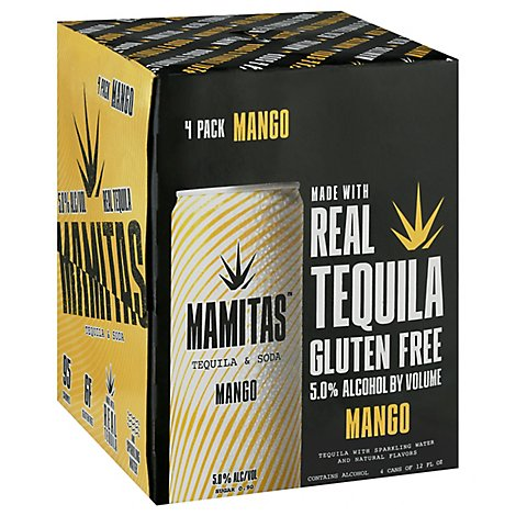 Mamitas Tequila & Soda Mango Can - 4-12 Fl. Oz.