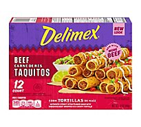 Delimex Beef Corn Taquitos Frozen Appetizer Box - 12 Oz