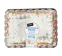 Signature Select Ice Cream Cake White Cake Van Ic 1/4 Sheet - 66 Oz