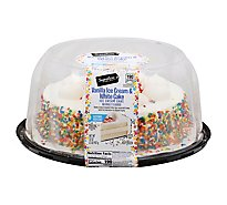 Signature Select Ice Cream Cake White Cake Vanilla Ice Cream 8 In - 32 Oz