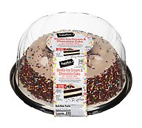 Signature Select Ice Cream Cake Chocolate Cake Vanilla Ice Cream 8 In - 32 Oz