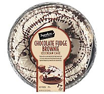Signature Select Ice Cream Ck Choc Fudge Brownie 8in - 34 Oz