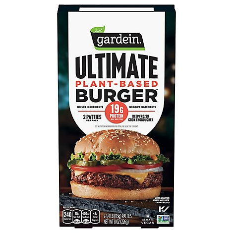 Gardein Ultimate Plant-Based Burger Frozen Patties - 8 Oz