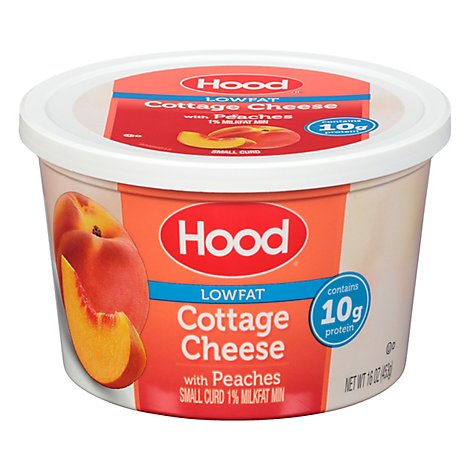 Hood Peach Cottage Cheese - 16 Oz