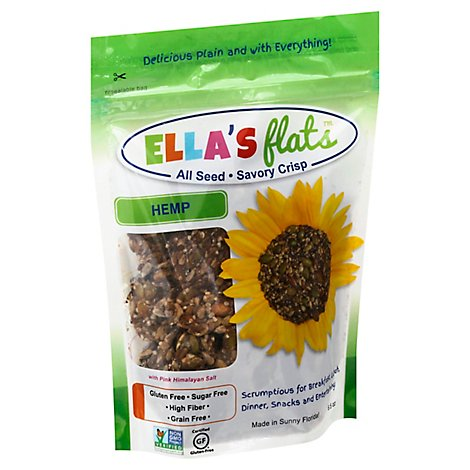 Ellas Flats Crackers Hemp - 6.5 Count