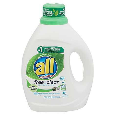 All Ultra Free Clear Pure Liquid Laundry Detergent - 88 Fl. Oz.