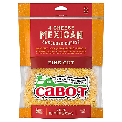 Cabot 4 Cheese Mexican Shreds Cheese - 8 Oz