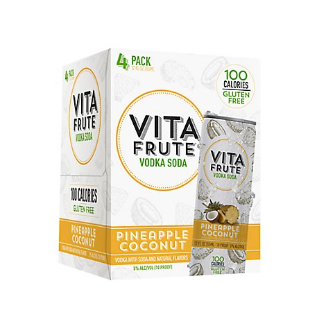 Vita Fruit Pineapple Coconut Can - 4-12 Fl. Oz.