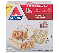 Atkins Birthday Cake Meal Bars - 5-1.7 Oz