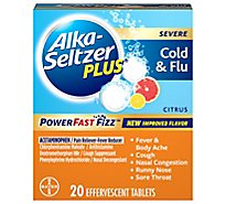 Alka Seltzer Plus Severe Cold Flu - 20 Count