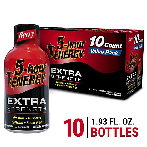 5-hour ENERGY Shot Extra Strength Berry - 10-1.93 Fl. Oz.