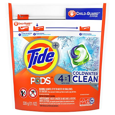 Tide Lq Pods Coldwater Clean - 12 Count