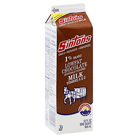 Sintons Milk Chocolate 1% Lf - Quart