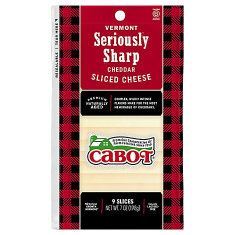Cabot Creamery Sharpwhite Cheddar Slices - 7 Oz