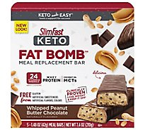 Slimfast Keto Meal Replacement Bar Whipped Peanut Butter - 5-1.48 Oz