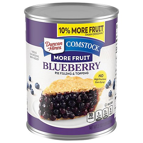 Comstock Ready To Use Blueberry Pie Fill - 21 Oz
